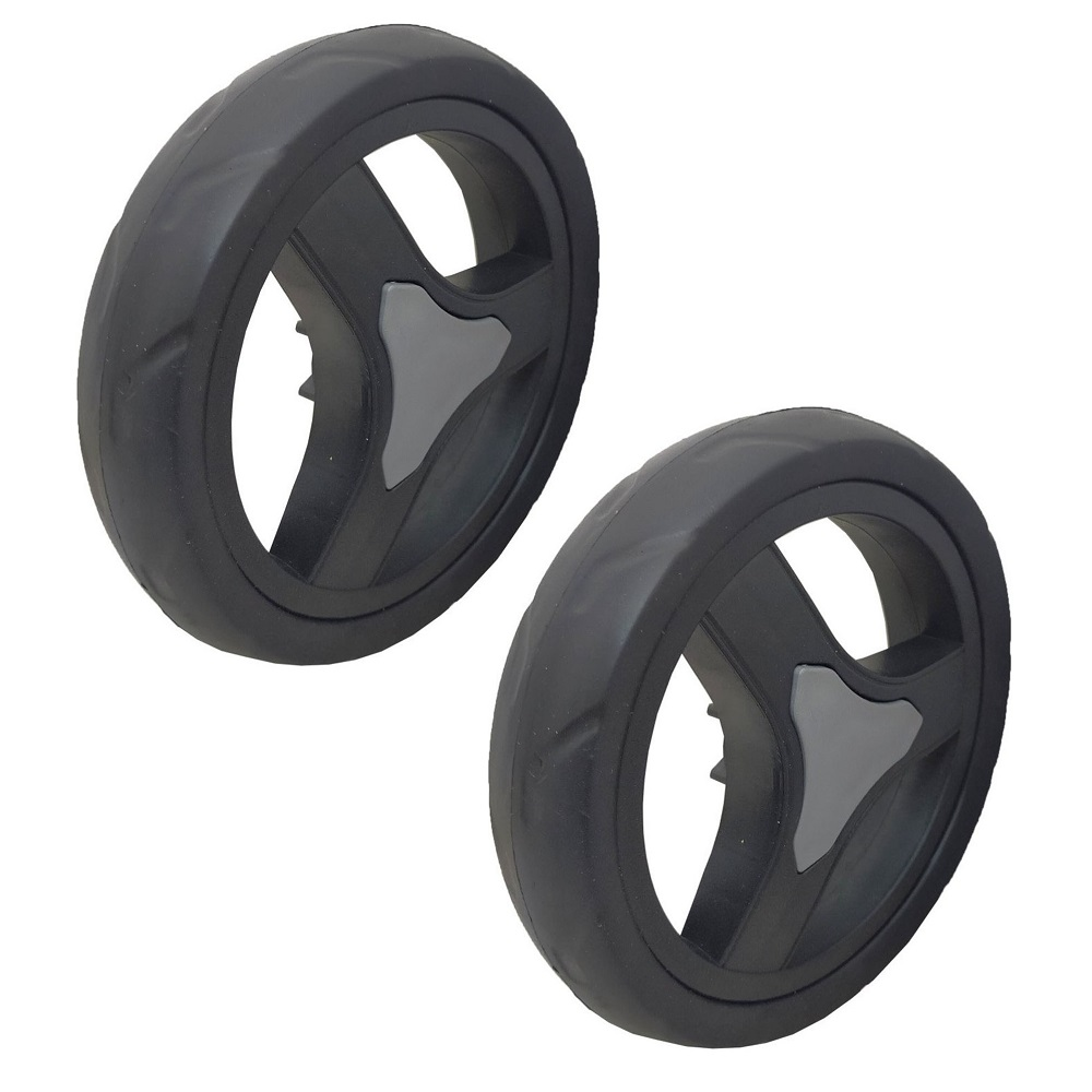 Hot-Pluggable Market Car Wheel Snap Baby Stroller Wheel SŞYAH 17,5 CM 2 PCS PAT0002-2