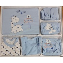 Children's Clothing 0-3 Month The zibin 10 Pcs Baby Boy Blue Organic Hospital Output Mother Gift Newborn Clothes Quality child clothes