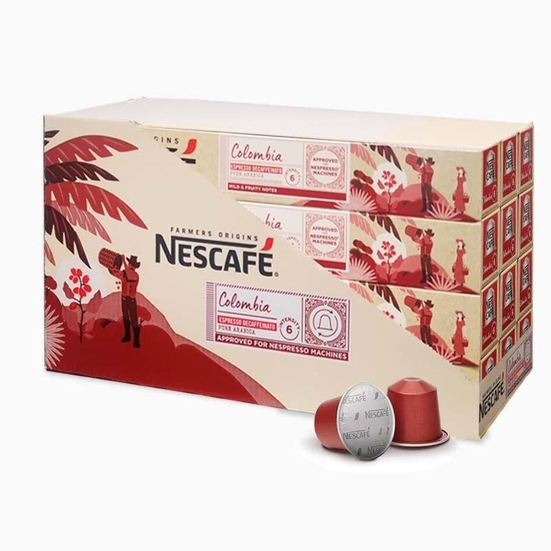 Colombia decaffeinated nespresso capsules 12 tubes aluminum 120 coffees saving format