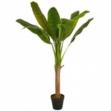 Planta de plastico hojas grandes 1 tallo 125 cm Verde