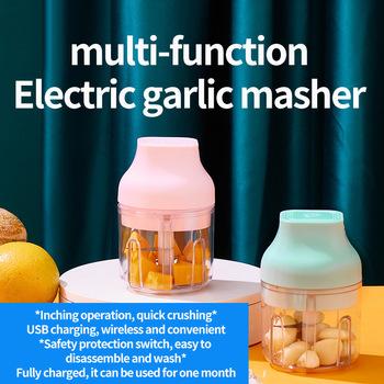 Mini bezprzewodowy elektryczny wyciskacz do czosnku mały domowy czosnek Smasher maszynka do mielenia mięsa ręczna do czosnku Masher pieprz wyciskacz do czosnku tanie i dobre opinie CN (pochodzenie) Ekologiczne