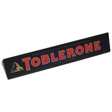 Black Toblerone 360 grams. Swiss black chocolate bar with honey nougat and almonds