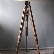Loft Design Tripod Floor Lamp Corner Lamp Lampshade