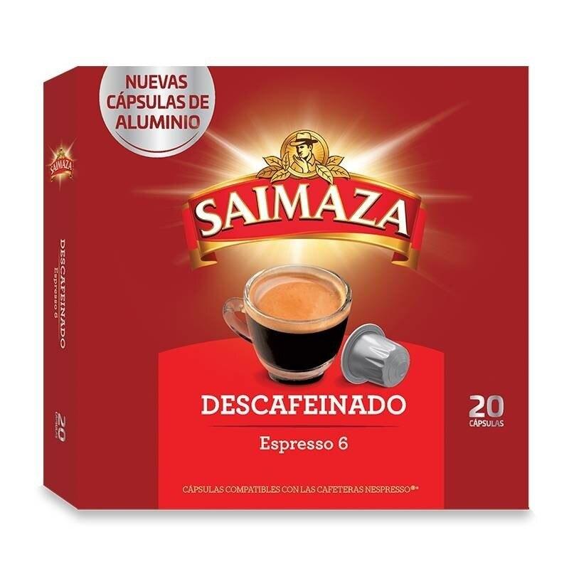 Decaffeinated 20 Nespresso compatible SAIMAZA aluminium capsules