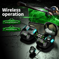 Auriculares G7s con Bluetooth para juegos electrónicos, cascos TWS con Compartimiento de carga para jugar sin retraso, para música competitivo