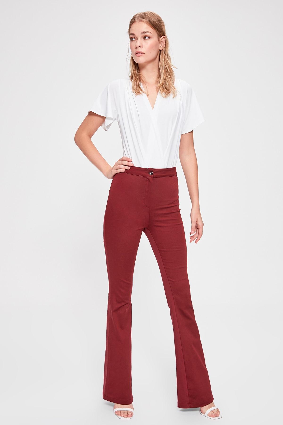 Trendyol Spanish Bell-Bottomed Pants TWOAW20PL0422