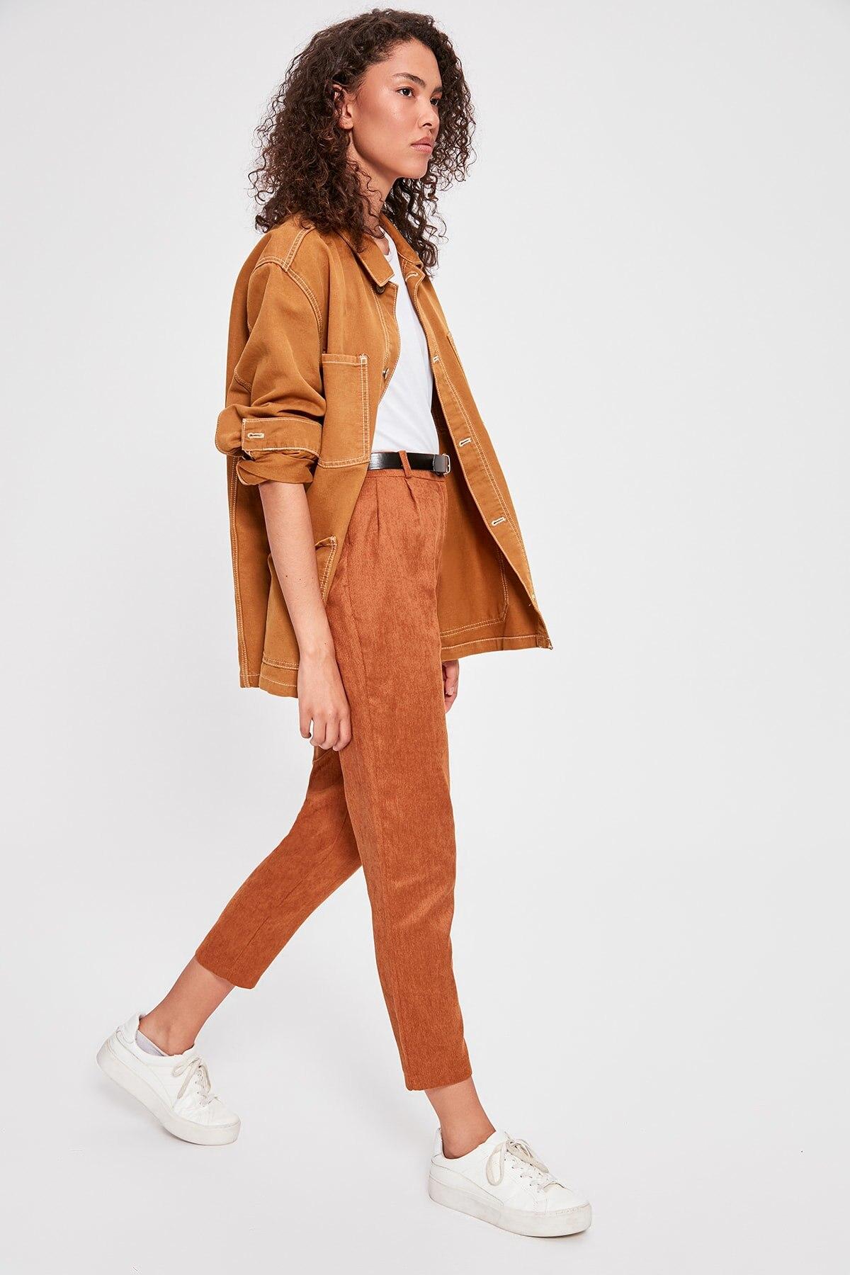 Trendyol Cinnamon Arched Pants TWOAW20PL0307