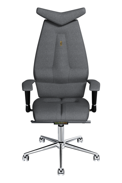 Office Chair KULIK SYSTEM JET Silver Computer Chair Relief And Comfort For The Back 5 Zones Control Spine