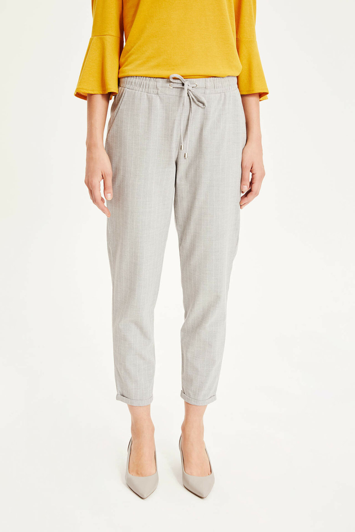 DeFacto Fashion Ladies Plaid Trousers Women Spring Autumn Long Pants Casual Pants Loose Drawstring Office Trousers I4364AZ19SP