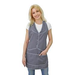 Женский рабочий фартук для продавца IVUNIFORMA Марта серый