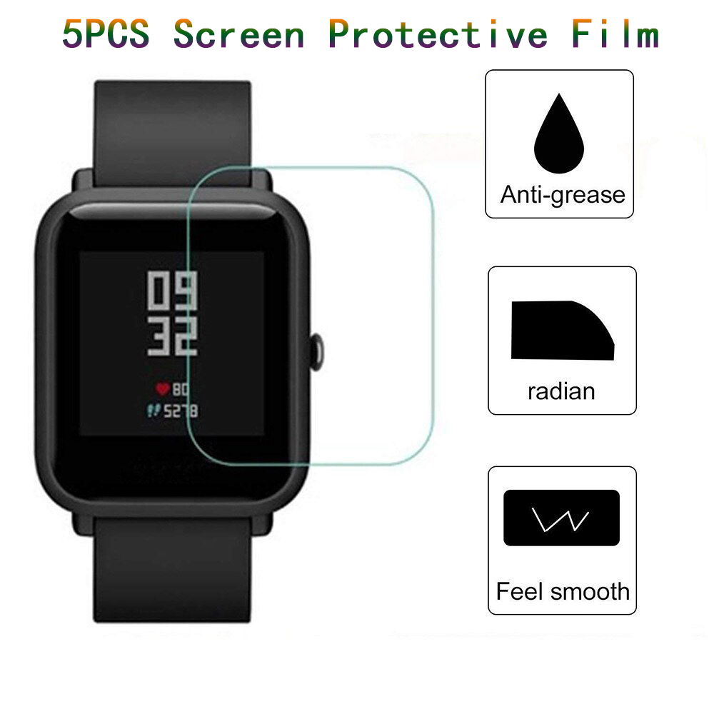 Protective Film Guard For Amazfit Bip SmartWatch Huami Amazfit Bip Screen Protective Film Cover For Amazf Gts Smart Watch Strap