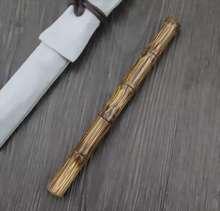 Handgemachte Greenstript Gemeinsame bambus Brunnen Stift Tinte Stift Konverter Füllstoff F Nib Schreibwaren Büro schule liefert Schreiben Geschenk