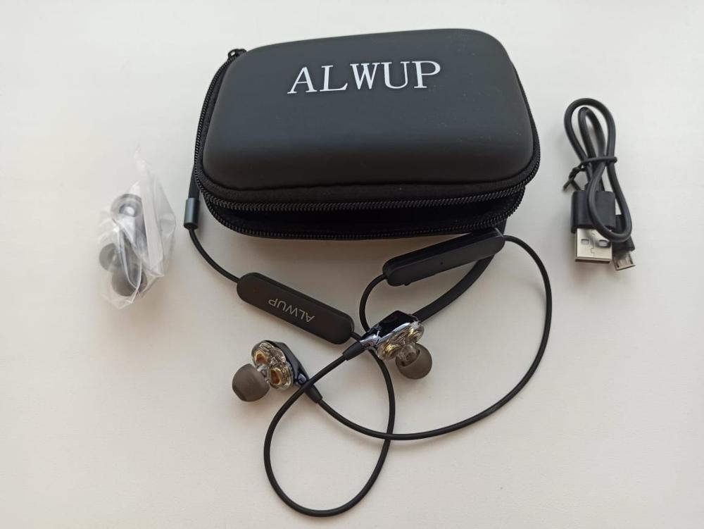 ALWUP G02 Bluetooth Earphone Wireless Headphones Dual Drivers Stereo Magnetic Neckband Sport for Phone with mic 12H Music Time|Bluetooth Earphones & Headphones| |  - AliExpress