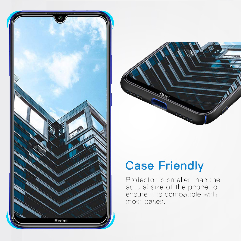 Full Tempered Glass Screen Protector for Xiaomi Redmi Note 8 Pro Security Glass Protection for Smartphone 6