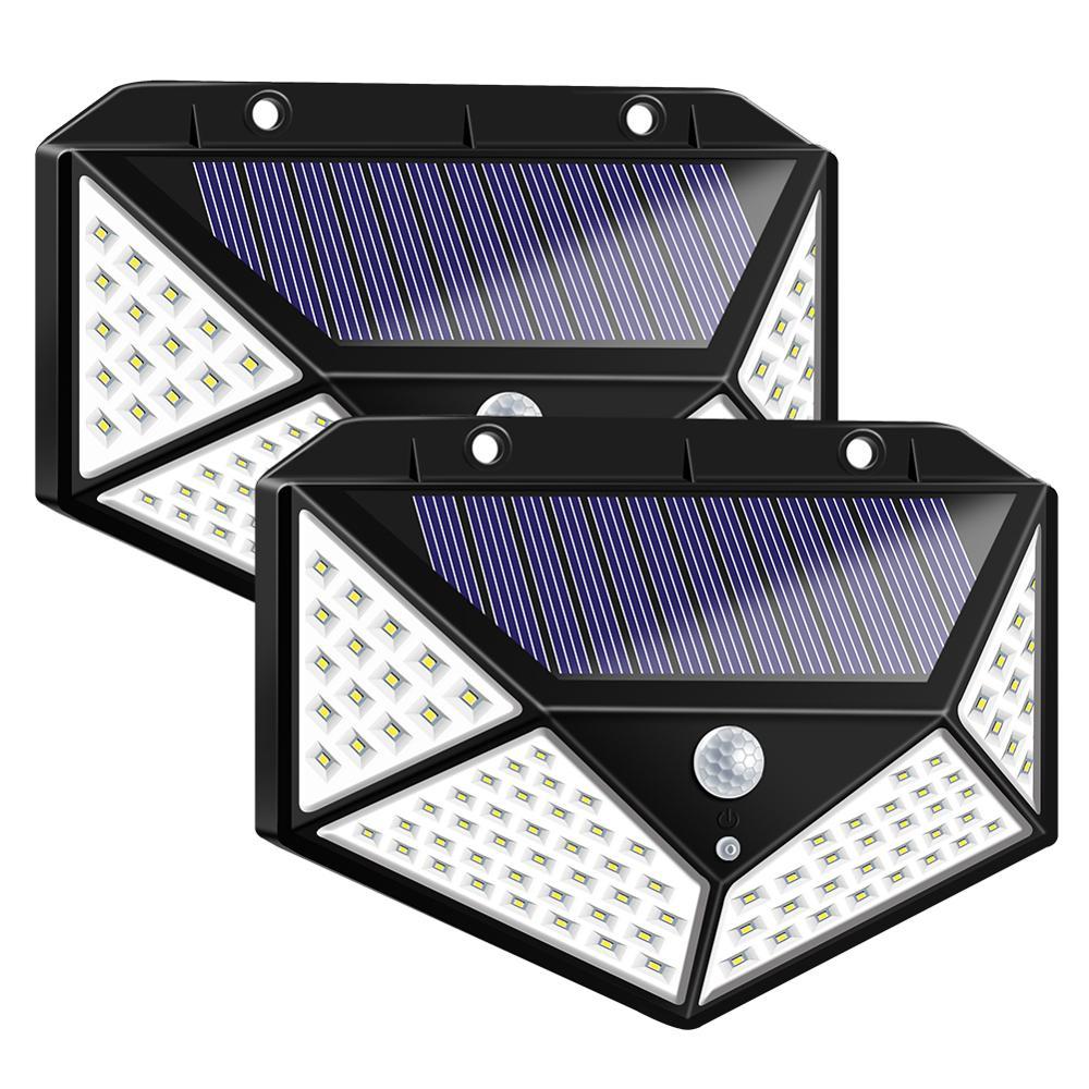 Solar Lights Outdoor 100 LED lamp with Motion Sensor security light Waterproof solar luminaria Lights for garden decoration