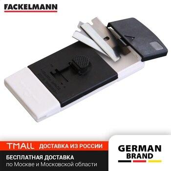 Plate scraper FACKELMANN, 10x5 cm + 2 spare blade