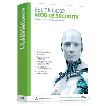 ESET NOD32 mobile security license for 1 year for 3 devices nod32-enm2-ns (Ekey)-1-1