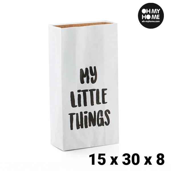 Ev ve Bahçe'ten Katlanabilir Depolama Çantaları'de Oh benim ev küçük kağıt torba (15x30x8 cm) title=