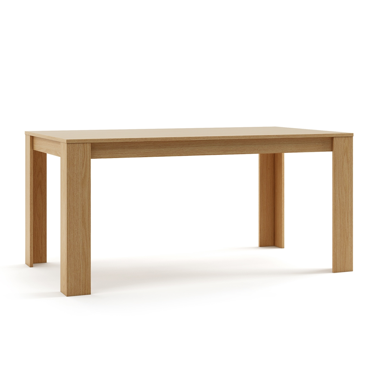 Table For Dining Room's Design Rectangular Ideal Salon Kitchen Custom Wood Finishes Mdf Oak Color Natural 160x90x75 Cm