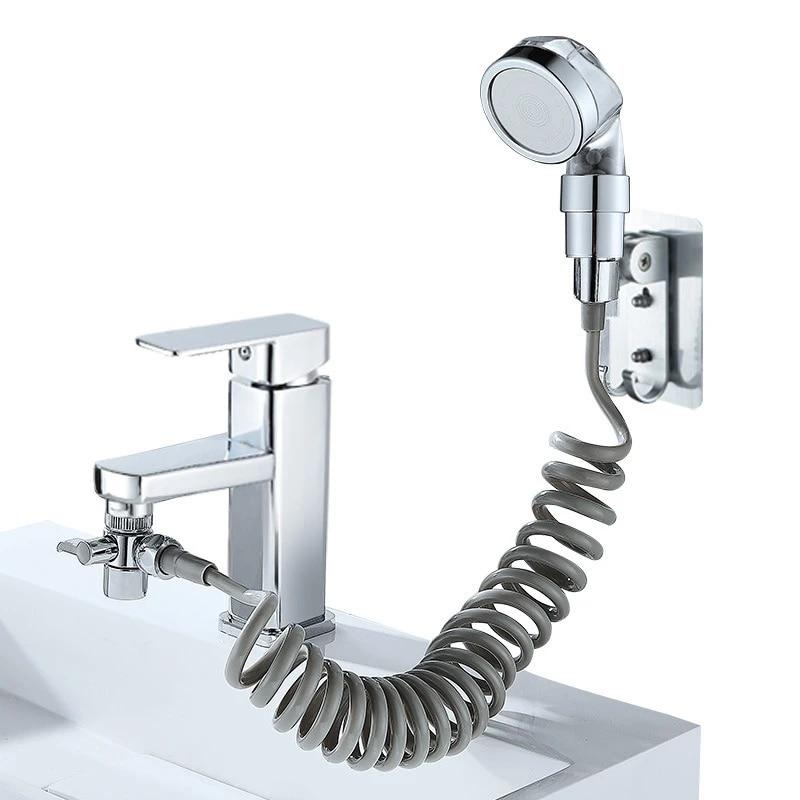 bathroom sink faucet sprayer set washbasin basin faucet two way shower bathroom handheld filter telescopic small sprinkler set s