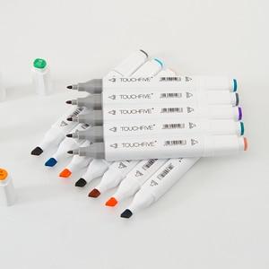 Image 5 - 30 40 60 80 168 色 Touchfnew マーカーブラシペン絵画永久マーカーためスケッチデュアルブラシ先端オイルベースのペン