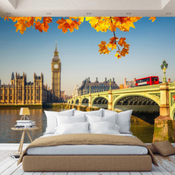 3D Photo Wallpaper Big Ben England, wall paper, hall, kitchen, bedroom, childrens, photo wallpaper enhance space