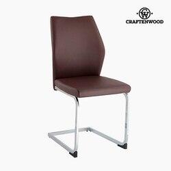 Krzesło Polyskin Brown (42x59x105 cm) firmy Craftenwood -