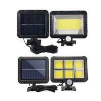 WAKYME-Lámpara LED de pared con Sensor de luz por movimiento PIR Solar, para exteriores, impermeable, para Calle, jardín, COB 120