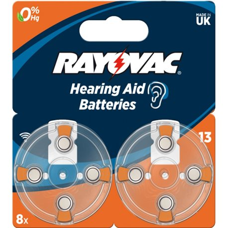 BATTERY HEARING AID 13AU RAYOVAC 8 PC