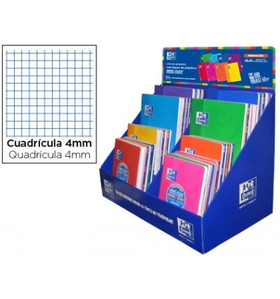 SCHOOL NOTEBOOK OXFORD OPENFLEX 48 SHEETS DIN A4 AND A5 TABLES 4 MM EXHIBITOR 64 PIECES ASSORTED