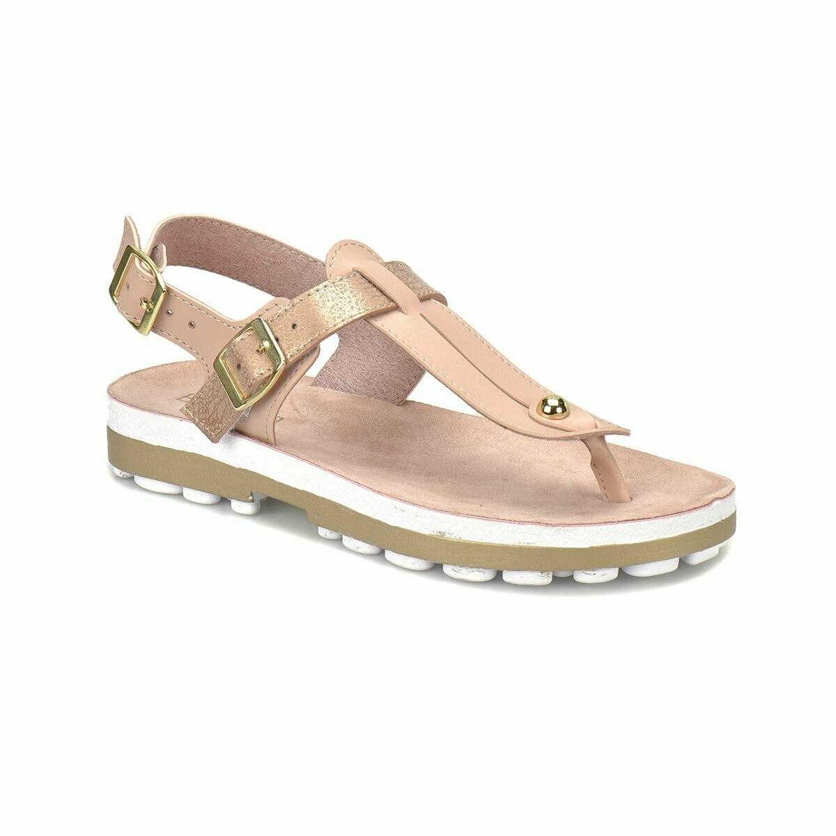 FLO CS18130 Rose Gold Women 'S Thick Soled Sandals BUTIGO