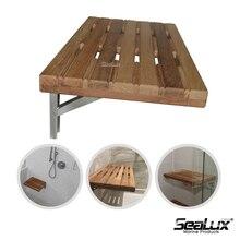 цена на Sealux Teak Wood adjustable stool 18 inch for Marine Boat Yacht House Bathroom