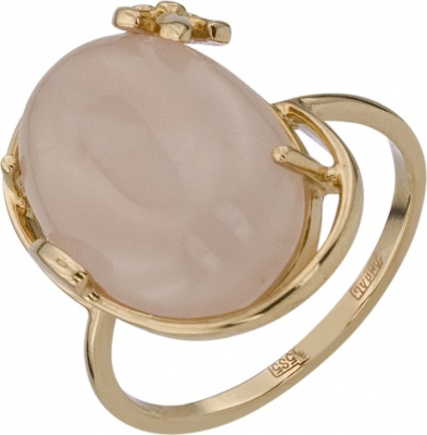 Aloris Ring With 1 Quartz In Red Gold