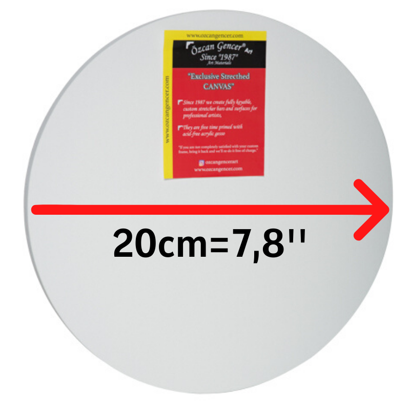 High Quality Art Supply,Circle Stretched Round Canvas ready For Painting,For All media..Exclusive FIVE-Time Primed Artist Canvas