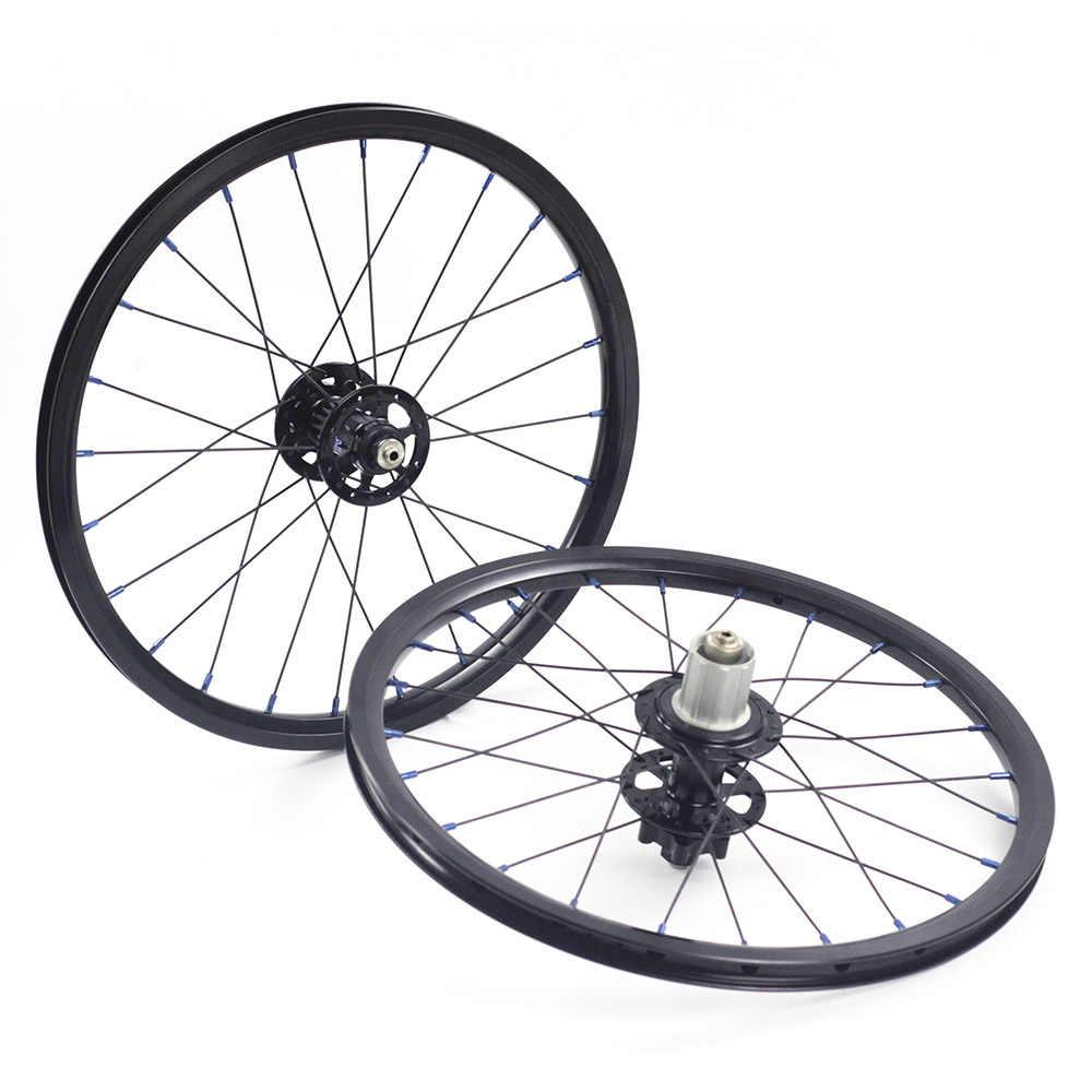 """Obręcz koła ze stopów Silverock 16 """"1 3/8"""" 349 hamulec tarczowy 24H dla Fnhon Gust rower składany niestandardowe koła rowerowe części rowerowe"""