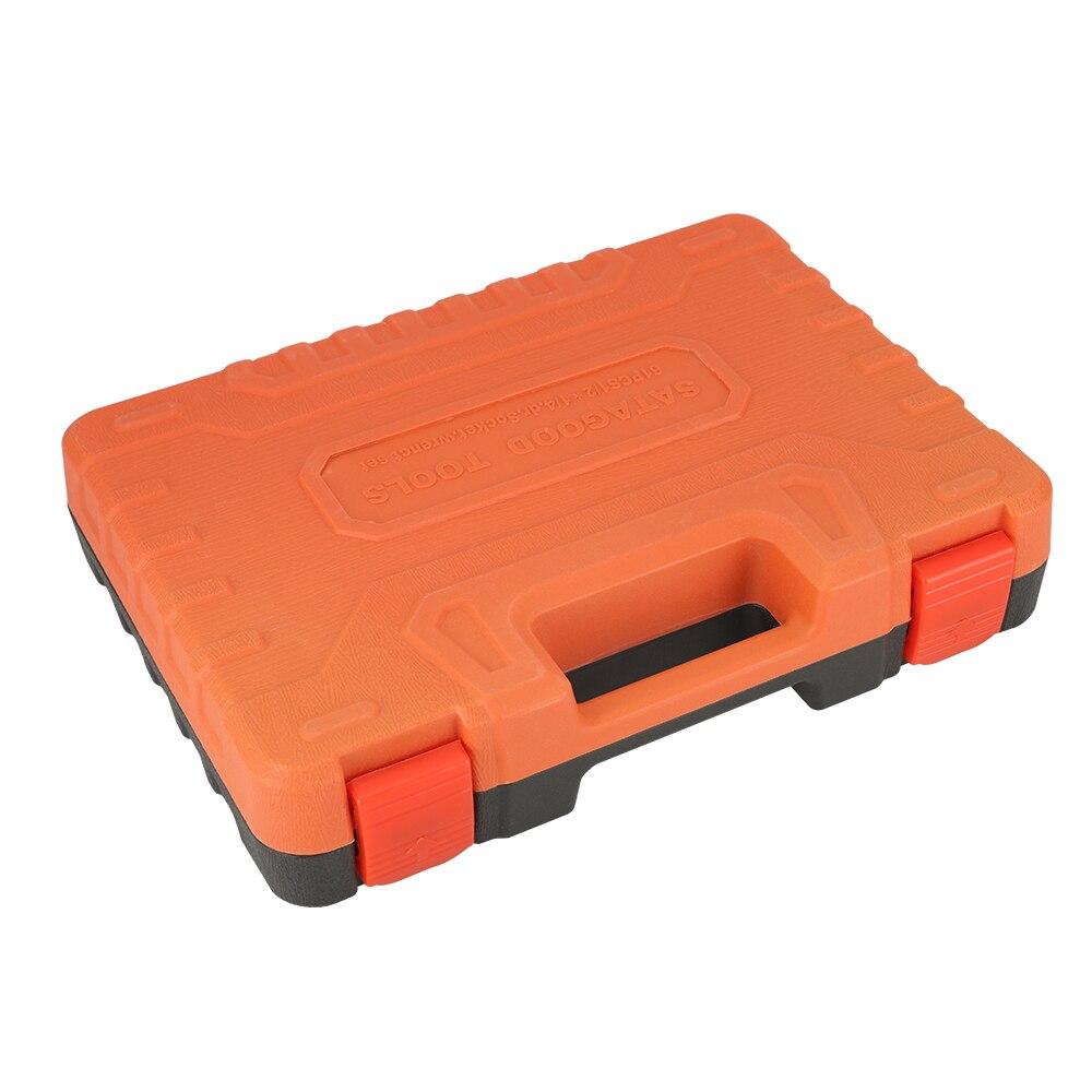 SATAGOOD Tool kit 61 articolo Strumenti strumento Mano kit di riparazione auto strumento mano strumento di strumento di auto strumento di kit per auto strumento di auto testa set di utensili set - 6