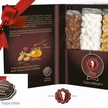 Cadeau, étui, NOUGAT, TURRON, dur, amande, MARCONA, artisan, doux, gourmette, chocolat, suprême