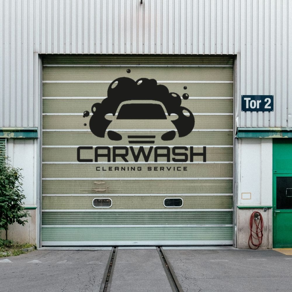 Modern Carwash Cleaning Service With Bubbles Wall Sticker Decal Car Service Sticker Garage Wall Art Decoration A01001