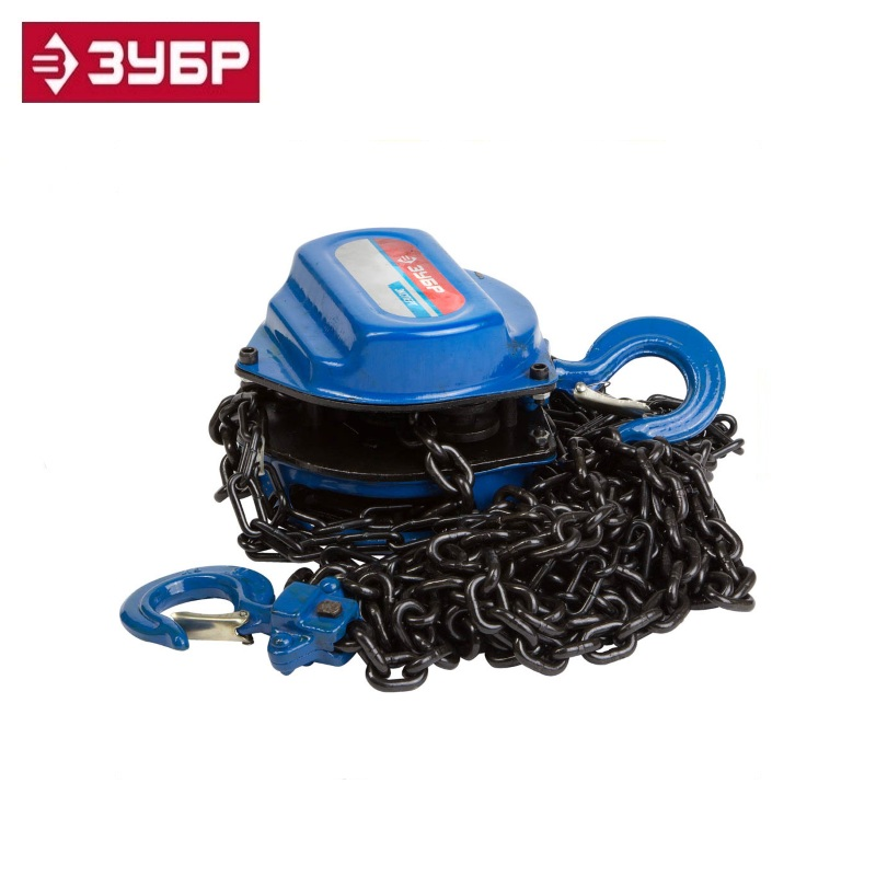 цена на Tal chain ZUBR EXPERT gear, 5t / 3m Pulley lift Hoisting winch Hand hoist Chain pulley block Lifting Hold Lowering