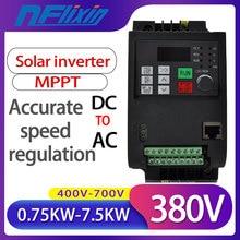 Free Shipping! 380V 0.75KW/1.5KW/2.2KW/4KW/5.5KW/7.5KW  VFD Solar Inverter  with MPPT Control Solar Pump VFD