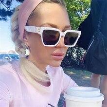 Luxury Square Sunglasses Women Oversized White Glasses Fashion Trends Sun Glasses Ladies Female Mens Shades 2020 vintage Glasses
