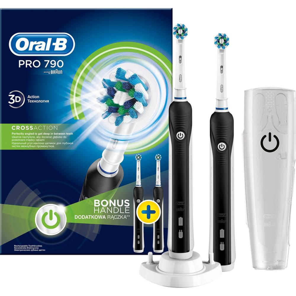Oral-B Pro 790 Rechargeable Toothbrush 2-Pack Advantage image