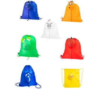 Backpacks SNACK's Infant folding is Animals shape. Lot 20 Units. Details puzzles child birthday, Colleges...