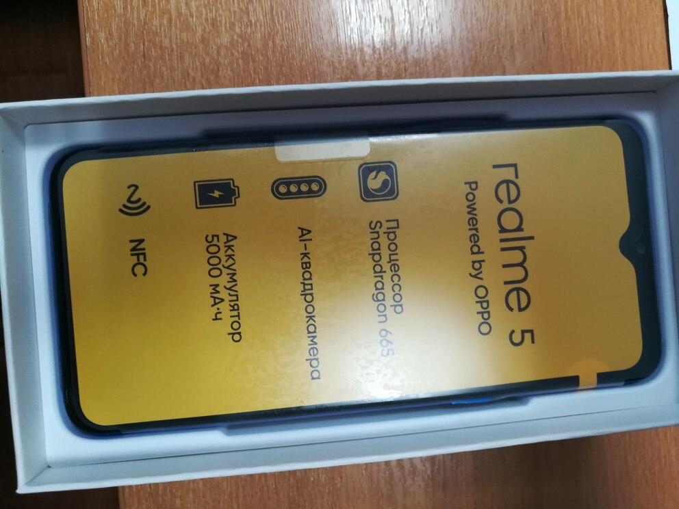 Smartphone realme 5 64 GB, Quadro camera, capacious battery 5000 mAh, NFC, the official Russian warranty Cellphones    - AliExpress