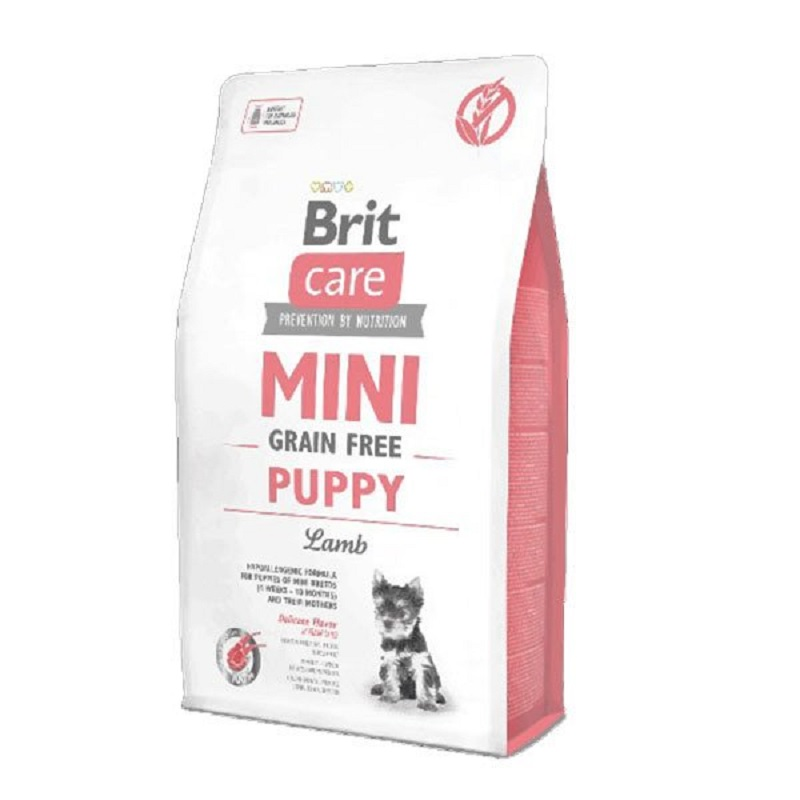 Brit Care Mini Puppy Grain Free Dog Food With Pure Lamb Meat 2 Kg Pup Dog Food Healthy Growth Feeding Pet Immunity Flora Support