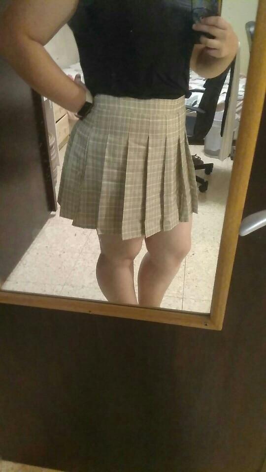 High Waist Striped Skirt E-Girl Soft girl photo review