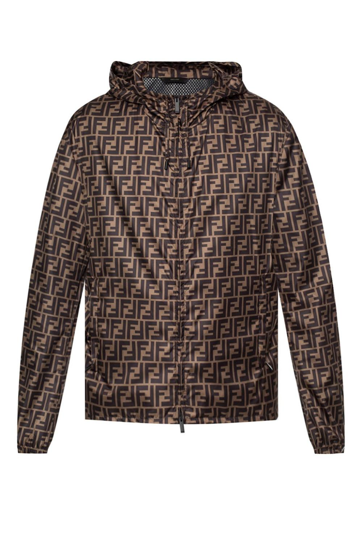 Jacket High Quality Raincoat Jacket Men Luxury Wear Black Vest Casual Brown Color Brand Print