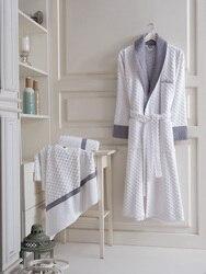 Мужской хлопковый Халат Maxho Manhattan, белый халат в турецком стиле