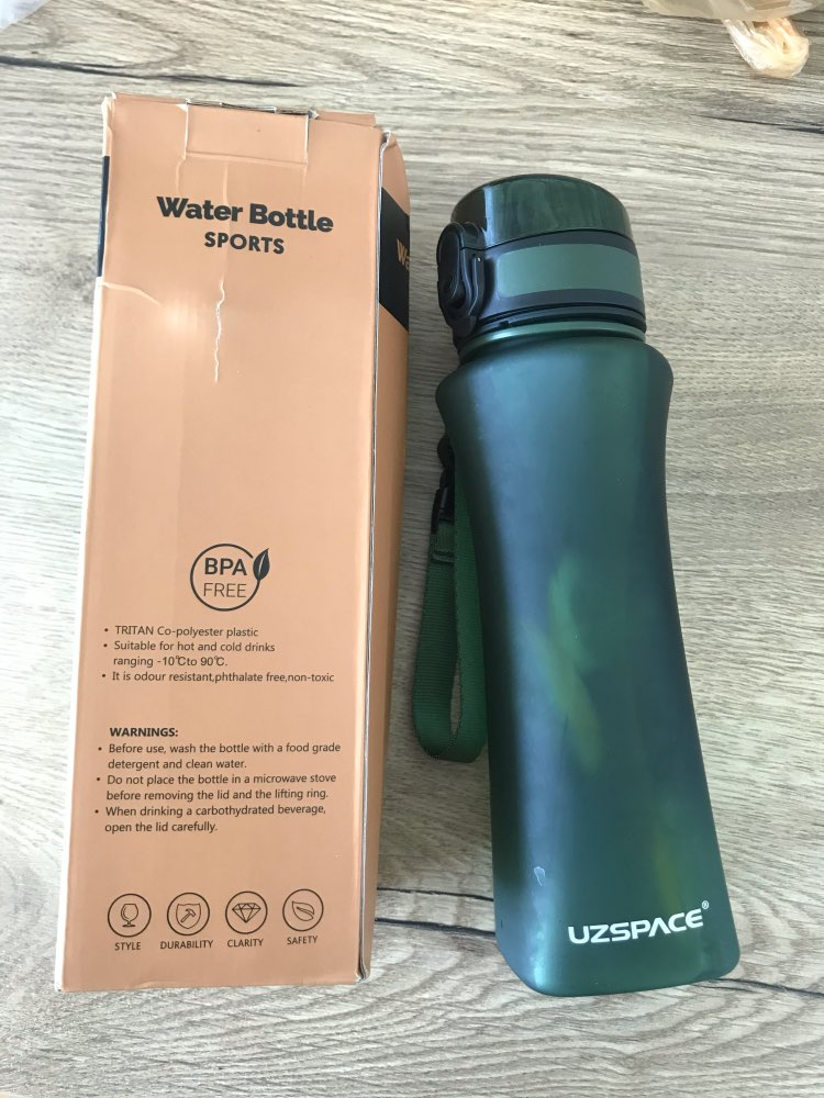 UZSPACE Sports Water Bottles 500ml Fashion Protein Shaker Gourde Climbing Hiking Travel Bottle Gourde Plastic Drinkware BPA Free|Water Bottles|   - AliExpress