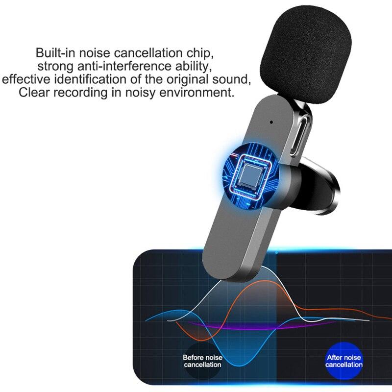 Micrófono Lavalier inalámbrico para estudio de videojuegos, para iPhone/PC tipo C, para ordenador, Clip de solapa, profesional